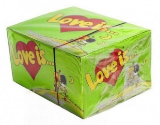 """Блок - жвачки """"Love is.."""" яблоко-лимон"""