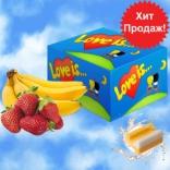 """Блок - жвачки """"Love is.."""" клубника-банан"""
